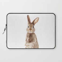 Brown Standing Bunny, Baby Animals Art Print By Synplus Laptop Sleeve