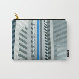 Dynamic Blue Lines Carry-All Pouch