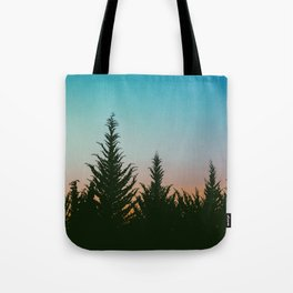 TREES - SUNSET - SUNRISE - SKY - COLOR - FOREST - PHOTOGRAPHY Tote Bag