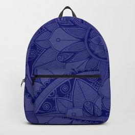 Navy Mandala 4 Backpack