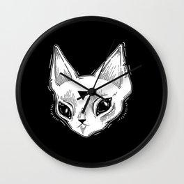 White Kitten Wall Clock