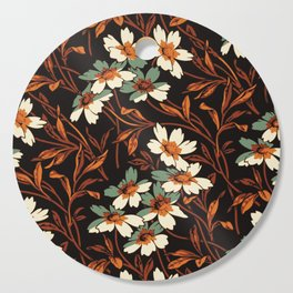 White gothic flowers Cutting Board