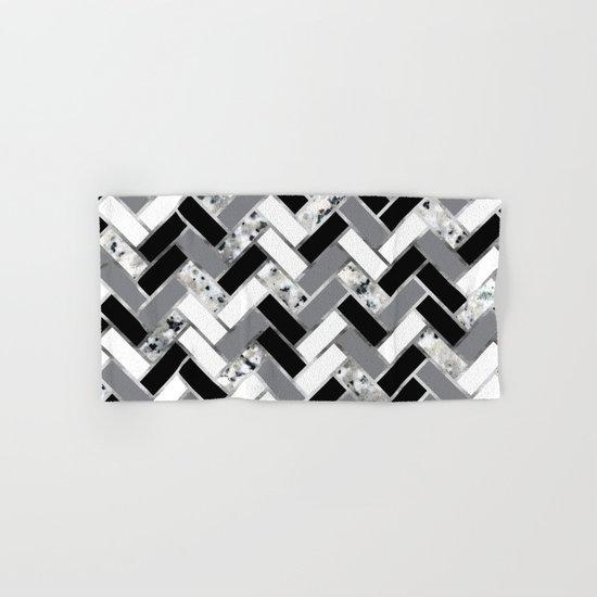 Shuffled Marble Herringbone - Black/White/Gray/Silver by fancyashelltees