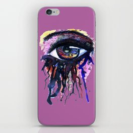 Rainbow eye splashing iPhone Skin