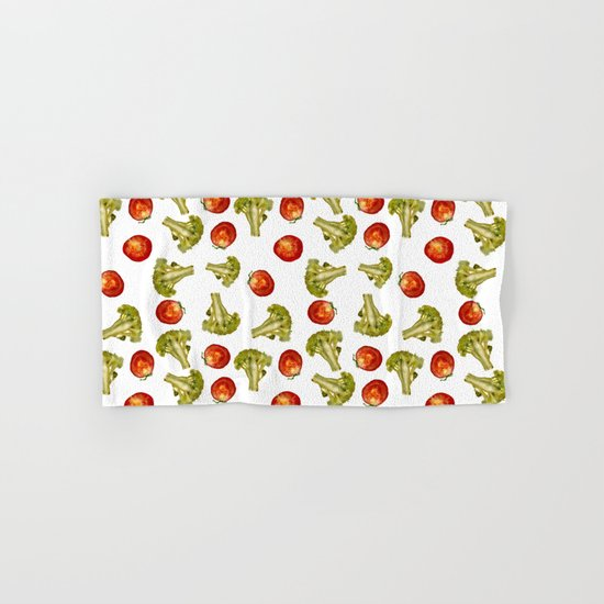 Broccoli and tomato Hand & Bath Towel