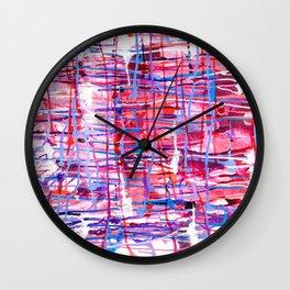 WINDOW PANE - CHANGING SEASONS - NORTHWEST - RAIN Wall Clock