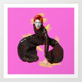 pinky bowie4 Art Print