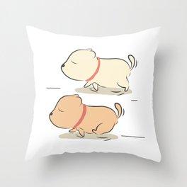 rocky running Throw Pillow