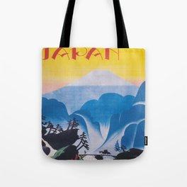 Japan. Mt. Fuji; Vintage Travel Poster Tote Bag