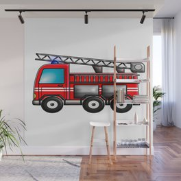 Fire engine Wall Mural