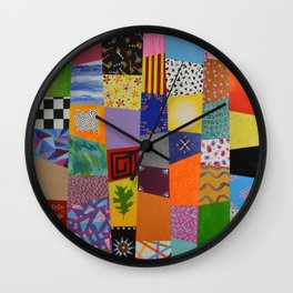 Party patchwork Wall Clock