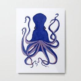 Octopus Blue Metal Print