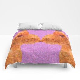 Love Valentine Cute Cats #decor #society6 #buyart Comforters