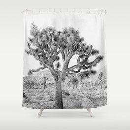 Joshua Tree Giant by CREYES Shower Curtain