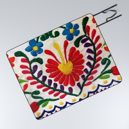 Red Mexican Flower Picnic Blanket
