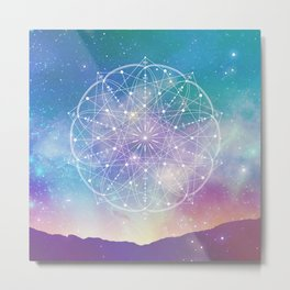 Sacred Geometry (Interconnected) Metal Print