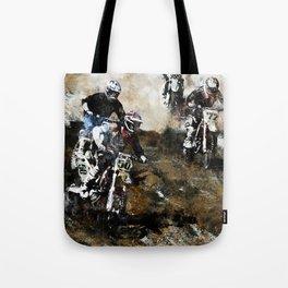"""""""Dare to Race"""" Motocross Dirt-Bike Racers Tote Bag"""