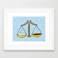 libra Framed Art Prints featuring Libra by Giuseppe Lentini