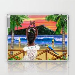 Hawaiian Sunset Hula Dancer Laptop & iPad Skin