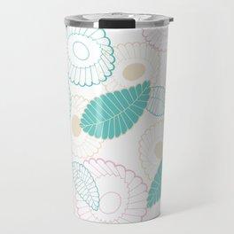 Leaves floral drawn pattern Travel Mug