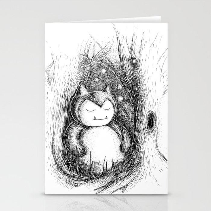 Snoozy Snorlax Stationery Cards