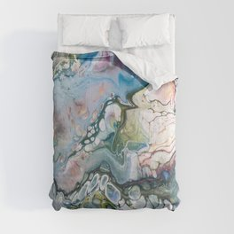 Sea and Land Acrylic Abstract Painting Comforters