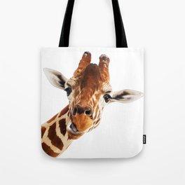 Giraffe Portrait // Wild Animal Cute Zoo Safari Madagascar Wildlife Nursery Decor Ideas Tote Bag