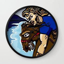 Alexander the Great w/ Bucephalus Horse Wall Clock