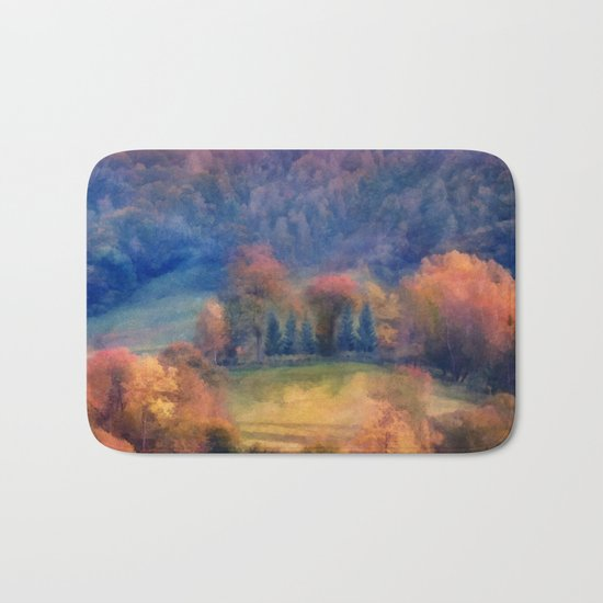 Fall landscape Bath Mat