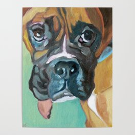Drako the Rescued Boxer Poster