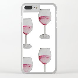 Wine Watercolor. Clear iPhone Case