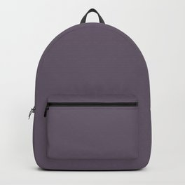 Deep Dark Heather Purple-Gray / Grey - Solid Block Colours - Autumn Shades / Colors Backpack
