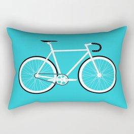 Turquoise Fixed Gear Road Bike Rectangular Pillow