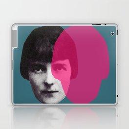Katherine Mansfield - portrait blue/green pink Laptop & iPad Skin