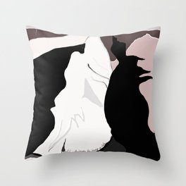 Dare to Meet the Dragon Throw Pillow