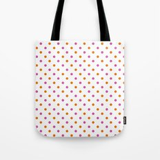 Fun Dots pink orange Tote Bag