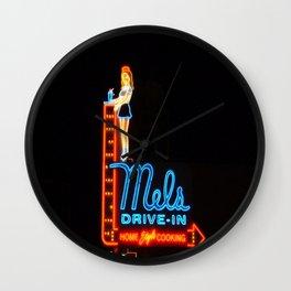 Mel's Drive-In Wall Clock