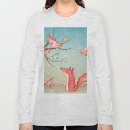 Gabriel's tales: Fox and the birds Long Sleeve T-shirt