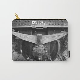 Old train wheel BW Carry-All Pouch