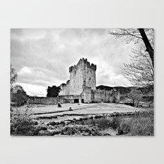 Ireland: Castle B&W Canvas Print