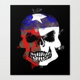 Texan Skull Canvas Print