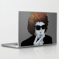 bob dylan Laptop & iPad Skins featuring Bob Dylan by Justin McElroy