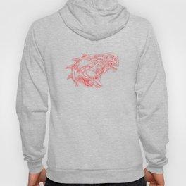 Skull creature (red line) Hoody