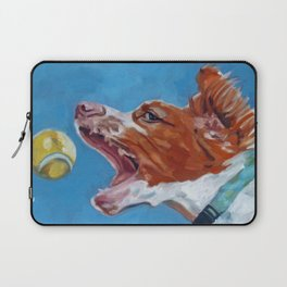 Brittany Spaniel Dog Portrait Laptop Sleeve