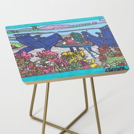 Beach Chairs Side Table