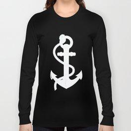 White Anchor Long Sleeve T-shirt