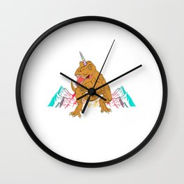 "Unique Dinosaur Shirt For Animal Lovers ""T-rexicorn"" T-shirt Design Jurassic Park Reptiles Colorful Wall Clock"