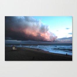 Approching Storm Huntington Beach Canvas Print