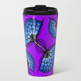 African Floral Motif on Purple Travel Mug