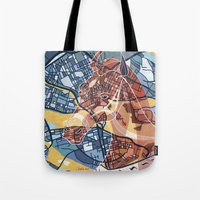 stockholm Tote Bags featuring STOCKHOLM by C. Reeder
